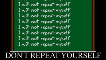 DRY principle: Don't repeat yourself
